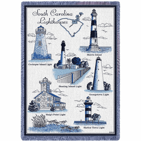 Lighthouses of South Carolina Blanket