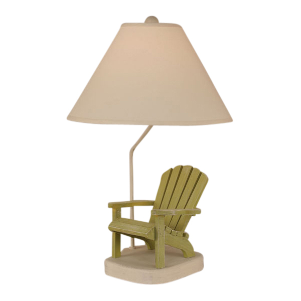 Beach Table Lamps Lime Adirondack Chair Table Lamp Bella