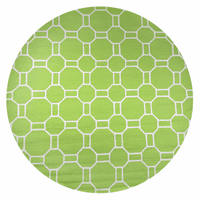 Lime Green Tiles Rug - 8 Ft. Round