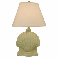Lime Mini Scallop Shell Table Lamp