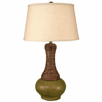 Lime Rope Neck Aladdin Pot Table Lamp