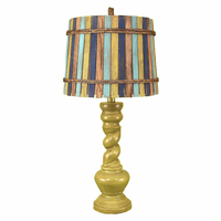 Lime Twist Table Lamp with Slat Shade