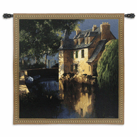 Little Canal Annecy Wall Tapestry