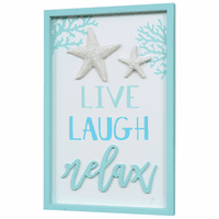 Live Laugh Relax Wood Wall Art - CLEARANCE