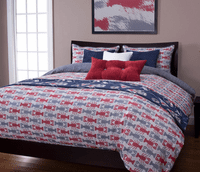 Lobster Bay Blue Duvet Set - Full