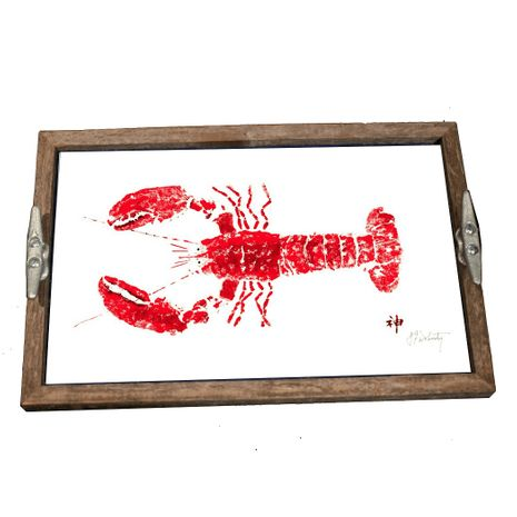 Lobster Driftwood Tray