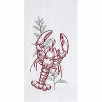 Lobster & Kelp Flour Sack Towels - Set of 6