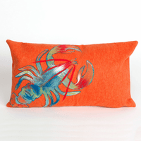 Lobster Orange Pillow - 12 x 20