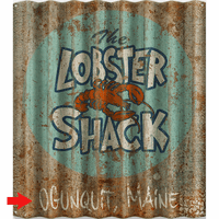 Lobster Shack Personalized Corrugated Metal Sign