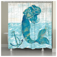 Lone Mermaid Shower Curtain