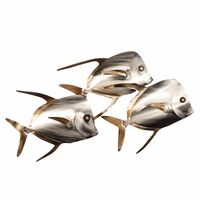 Lookdown Fish School Wall Art - Set of 3