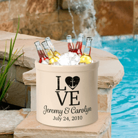 Love Anchor Personalized Crock - Black