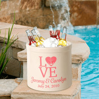 Love Anchor Personalized Crock - Coral