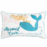 Loving Mermaid Embroidered Pillow