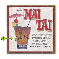 Mai Tai Personalized Sign - 28 x 28