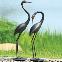 Majestic Cranes Statuaries - Set of 2