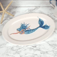Majestic Mermaid Oval Serving Platter