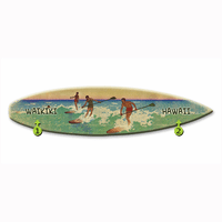 Making Waves Surfboard Wood Personalized Sign - 12 x 44
