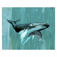 Mama Whale & Baby Canvas Art