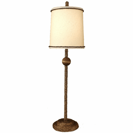 Manila Rope Buffet Lamp with Ball Accent
