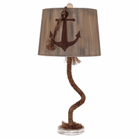 Manila Rope Table Lamp with Anchor Shade