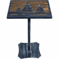 Manteka Accent Table with Sailboat Scene