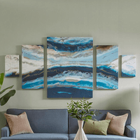 Marble Waves Canvas Art - 5pcs