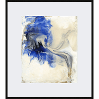 Marbleized Framed Print