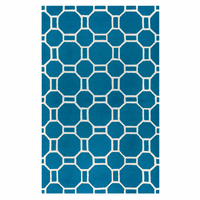 Marine Blue Tiles Rug Collection