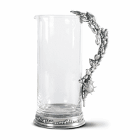 Marine Life Handle Glass Pitcher