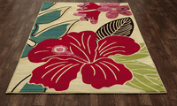 Maui Flower Rug Collection