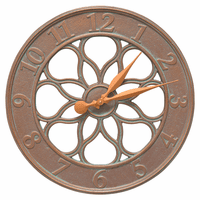 Medallion Indoor/Outdoor Wall Clock - Copper Verdigris