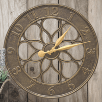 Medallion Indoor/Outdoor Wall Clock - French Bronze