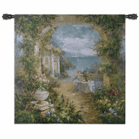 Mediterranean Arches II Large Wall Tapestry