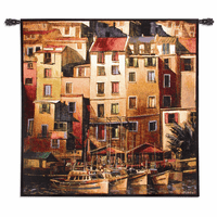 Mediterranean Gold Wall Tapestry