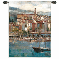 Mediterranean Harbor Wall Tapestry