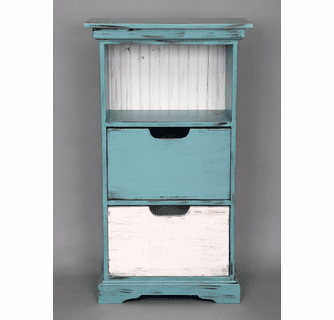 Beach Style Furniture: Medium Painted Shelf Tower|Bella ...