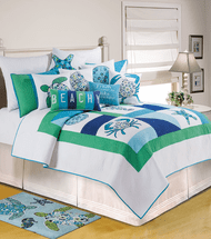 Meridian Waters Quilt Bedding Collection - OVERSTOCK