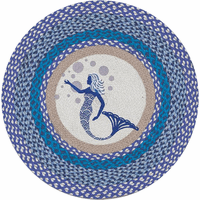 Mermaid Bubbles Round Rug