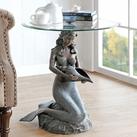 Mermaid & Conch Shell End Table
