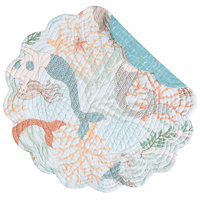 Mermaid Escape Round Placemats - Set of 6