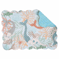 Mermaid Escape Scalloped Placemats - Set of 6