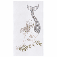 Mermaid Flour Sack Kitchen Towels - Set of 12