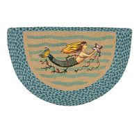 Mermaid Half Round Braided Rug