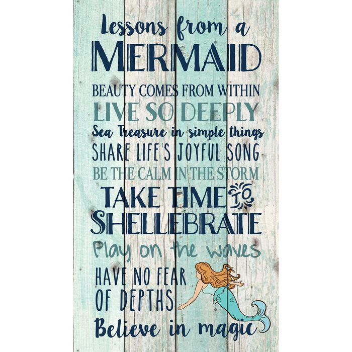 Wall Hanging Lesson Plan: Beach Wall Art: Mermaid Lessons Pallet Sign