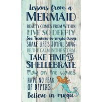 Mermaid Lessons Pallet Sign