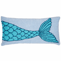 Mermaid Scales Hooked Pillow