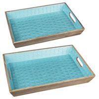 Mermaid Scales Rectangle Trays - Set of 2