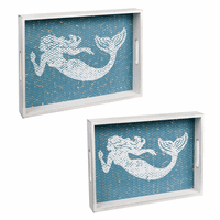 Mermaid Serving Trays - Set of 2 - CLEARANCE