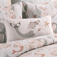 Mermaid Songs Mermaid Embroidered Pillow